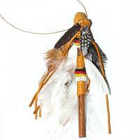 Talking Stick Redestab 13 cm Holzfeder dunkelbraun