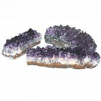 Amethyst Kristalldrusenstück 11,5-15,5x3,5-6x3-5h cm
