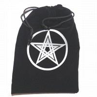 Pentagramm Beutel schwarz