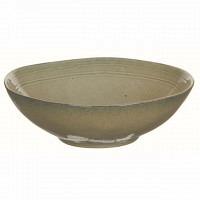 """""""leichte Mängel"""" Schale Keramik sandfarben ca. 23,5-24,5 cm x 7-7,5 cm"""