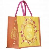 Tasche Blume des Lebens gelb-orange-pink