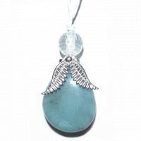 Engel Aquamarin & Bergkristall