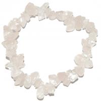 Rosenquarz - Stein des Herzens - Splitter-Armband 18 cm