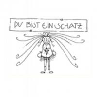 DU BIST EIN SCHATZ - 10,5X7,5 cm - mit Couvert