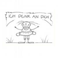 ICH DENK AN DICH - 10,5X7,5 cm - mit Couvert