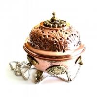 Ornament Räucherschwinger Ø 11cm aus Kupfer