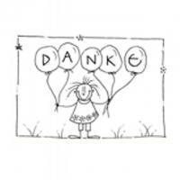DANKE - 10,5X7,5 cm - mit Couvert