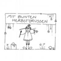 MIT BUNTEN HERBSTGRÜSSEN - 10,5X7,5 cm - mit Couvert
