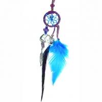 Traumfänger Magie violett mit Bergkristall & Amethyst B 2,5cm - L 20cm