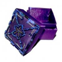Satin-Döschen Ø 5 cm violett