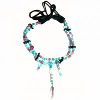 Indianer-Halsschmuck mit Glasperlen