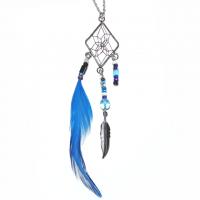 Indianerschmuck Halskette Traumfänger eckig