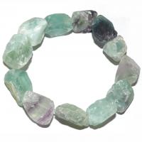 Fluorit Regenbogen roh - Stein der Inspiration - Armband 19 cm