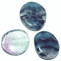 Fluorit Regenbogen 3 - 3,5 cm Handschmeichler flach
