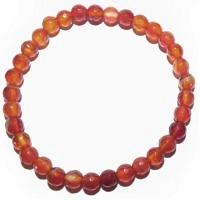 Energie-Armband Carneol & Bergkristall 18 cm