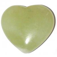 Jade Herz grün ca. 4 cm