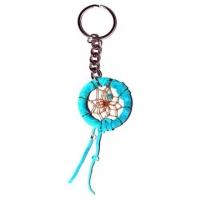 Schlüsselanhänger Traumfänger türkisblau