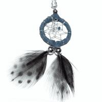 Indianerschmuck Halskette Traumfänger blau 2 cm