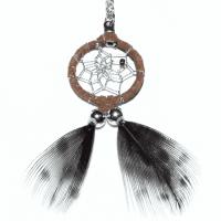 Indianerschmuck Halskette Traumfänger braun 2 cm