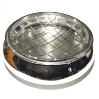 Räuchergefäss Ø 8cm Messing vernickelt mit Gittereinsatz