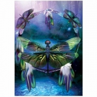 Dragonfly Dreamcatcher - Karte 17,5 x 12,5 cm mit Couvert