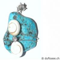 Seelensteine 4,3 x 3,5 cm Türkis & Shivas-Auge