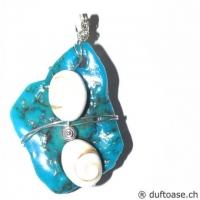 Seelensteine 5 x 3,8 cm Türkis & Shivas-Auge