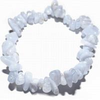 Chalcedon Blue Lace - Stein der Kommunikation - Splitter-Armband 18 cm