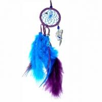 Traumfänger Magie violett 6,5 cm mit Bergkristall