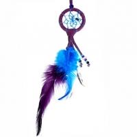 Traumfänger Magie violett mit kleinem Edelsteinchen B 4 cm - L 22 cm