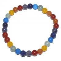 Chakra Edelstein-Armband runde Steine