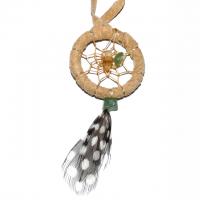 Indianerschmuck Halskette Traumfänger natur