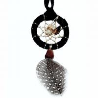 Indianerschmuck Halskette Traumfänger schwarz