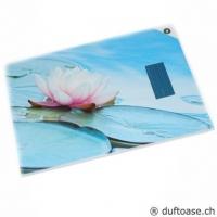 Der reine Lotus Karte mit Räucherstäbchen