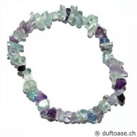 Fluorit Regenbogen - Stein der Inspiration - Spltitter-Armband 18 cm