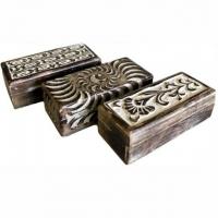 Shabby Chic Box 17,5 x 7,5 cm Blumenranke