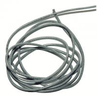 Lederband mausgrau 1,5 mm, 1 m lang