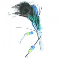 Räucherfeder 17 - 20 cm ocean-blue