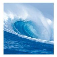 Meereswelle - Postkarte 14 cm mit Couvert
